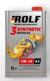 Масло моторное Rolf 3-synthetic 5w30 ACEA A3/В4 1 литр (синтетика)